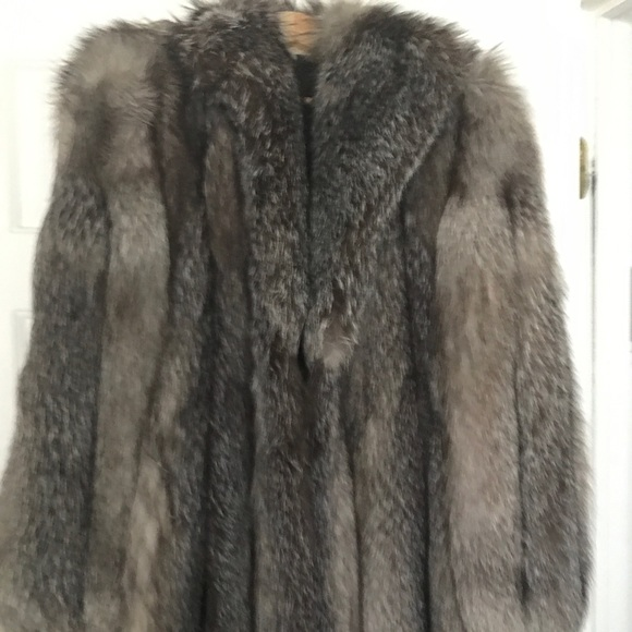 Jackets & Blazers - Real silver fox fur new size 16-18